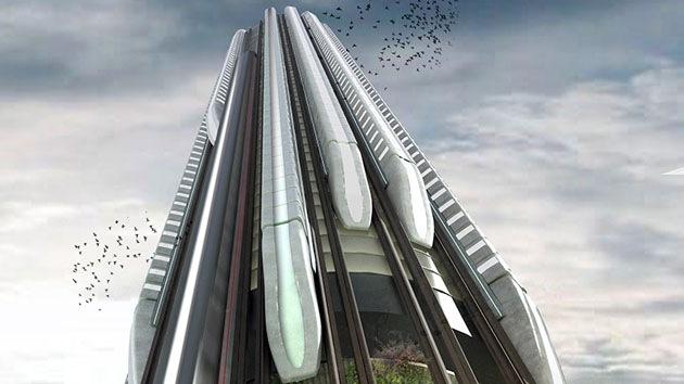 Proponen construir estaciones verticales de tren en emblemáticos rascacielos