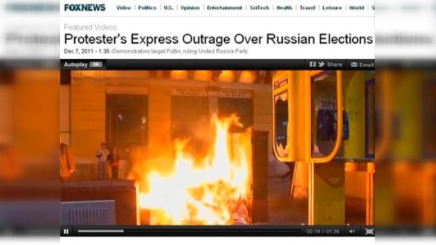 Fox News confunde Moscú y Atenas cubriendo las manifestaciones en Rusia