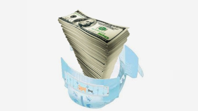 La policía encuentra 212.000 dólares entre pañales