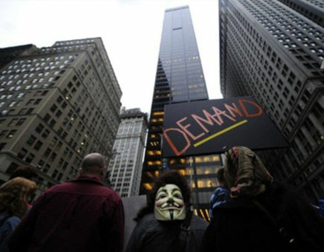 'Zombies corporativos' protestan contra brutalidad y avaricia en Nueva York
