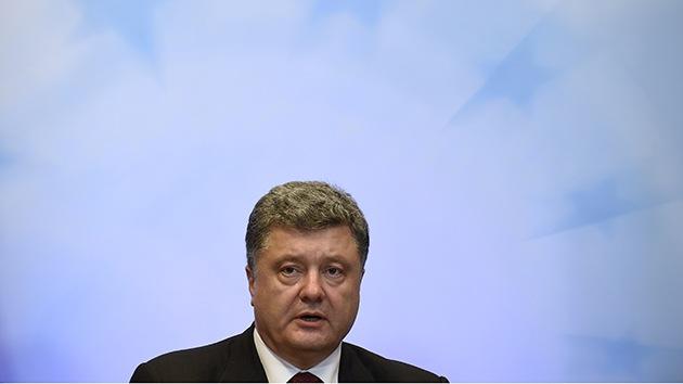 Poroshenko anunciará el alto el fuego en Ucrania este viernes