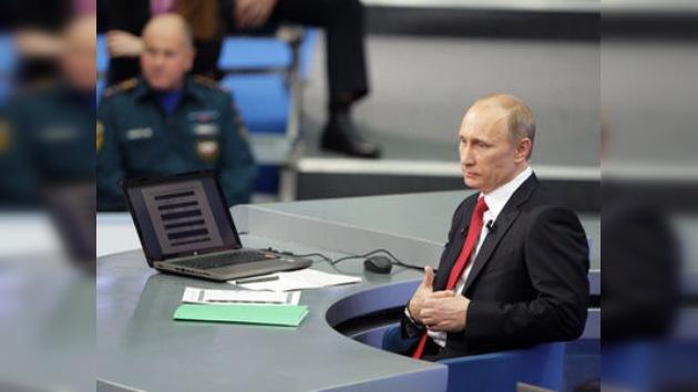 Putin contesta a las preguntas de los ciudadanos rusos en directo