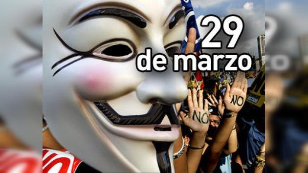 Anonymous declara la guerra a los empresarios españoles en vísperas de la huelga general