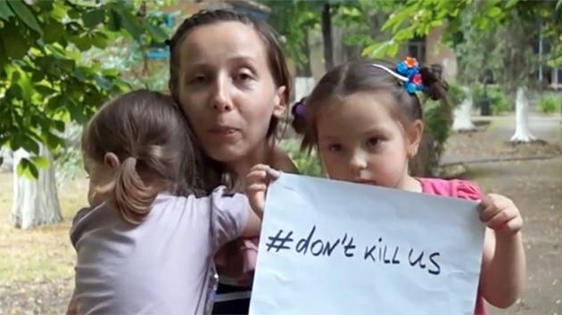 """""""No nos maten"""": refugiados del este de Ucrania piden a Kiev que deje de asesinarles"""