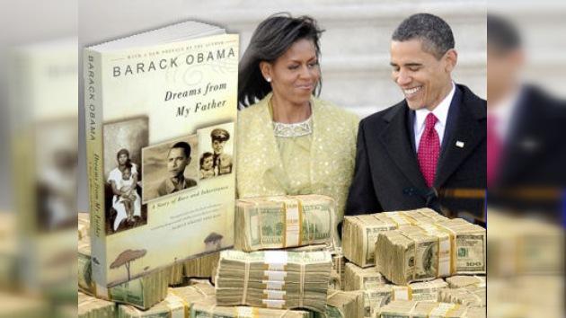 Obama obtiene ingresos millonarios en 2010 no por la política sino por sus libros de éxito