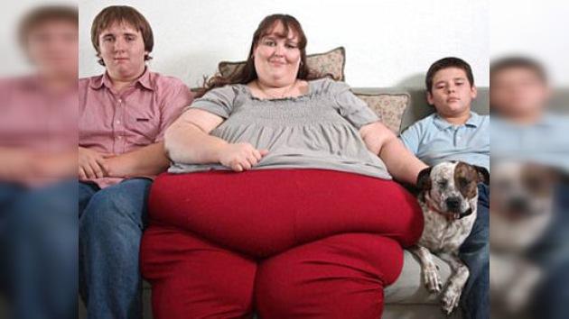 El sueño de una mujer es llegar a pesar una tonelada