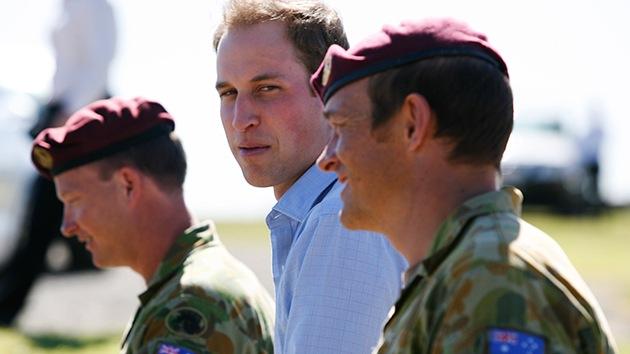 El príncipe Guillermo trató de rescatar sin éxito a un hombre en Nochevieja