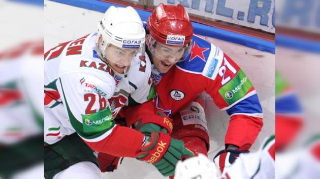 KHL: AK Bars trunca la racha de cuatro triunfos seguidos del CSKA