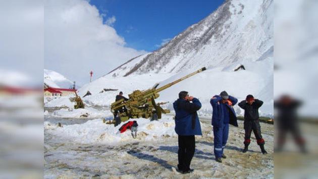 Cañones en el combate contra las avalanchas