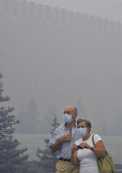 Moscú continúa cubierta por nube de humo y cenizas