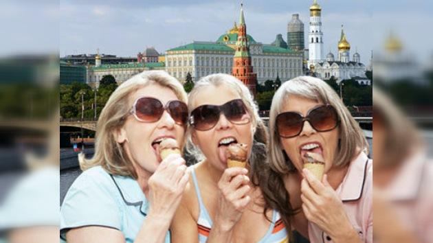 Se duplican las ventas de helado en Moscú