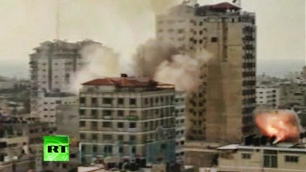 Video: Israel vuelve a atacar un centro mediático en Gaza