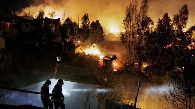 Foto: El incendio de Valparaíso desde el espacio