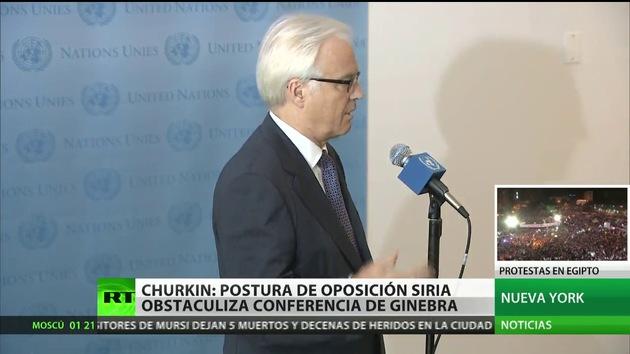 """Rusia: Reunión del Consejo de Seguridad de la ONU con la oposición siria """"no es un reconocimiento"""""""
