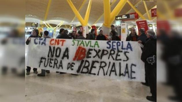 Cancelación masiva de vuelos de Iberia por otra jornada de huelga
