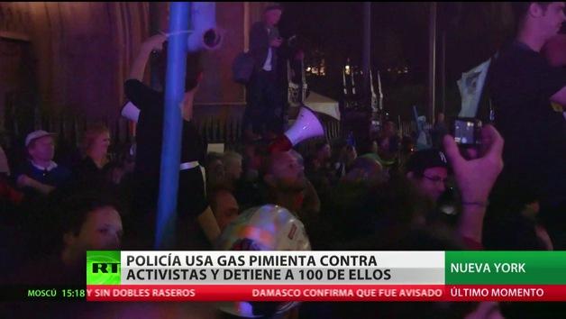 Cien manifestantes detenidos en las protestas de Nueva York