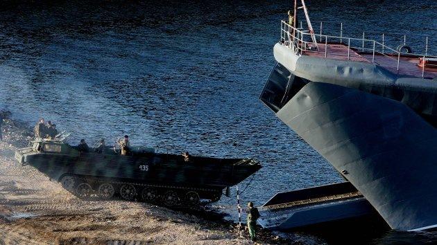 Rusia prueba su poderío en los ejercicios de desembarco en un archipiélago del Ártico