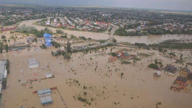 Inundaciones en el sur de Rusia