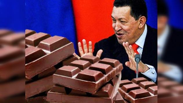 Chocolate, mermelada y cacao, obsequios de Chávez para Medvédev