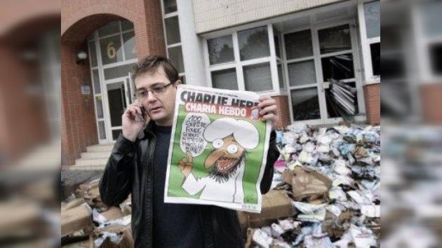 Queman las oficinas de la revista que nombró a Mahoma su redactor jefe