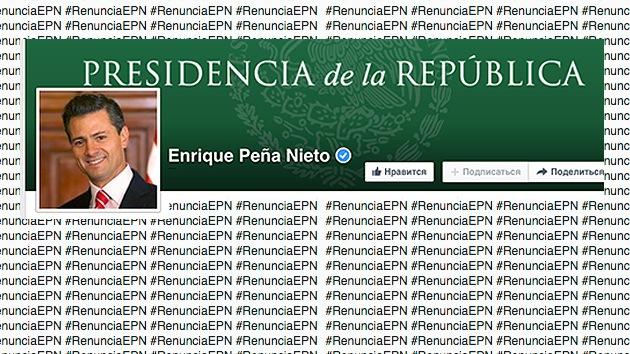 El Facebook de Peña Nieto se inunda de comentarios que exigen su dimisión