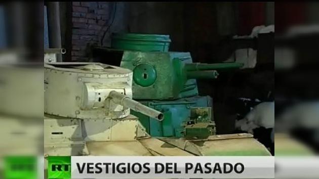 El veterano que construyó sus propios cuatro tanques