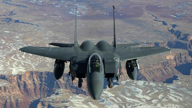 Cazabombardero estadounidense F-15 se estrella en Virginia