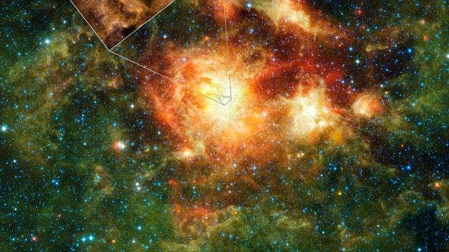 El telescopio infrarrojo de la NASA detectó millones de agujeros negros