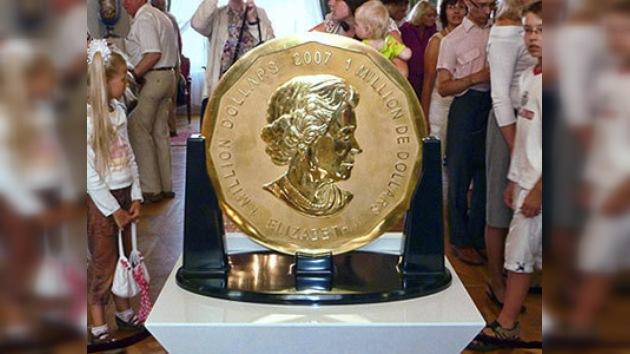 A subasta la moneda más grande del mundo