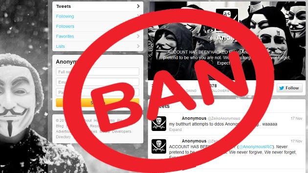La mayor cuenta de Anonymous, suspendida por Twitter