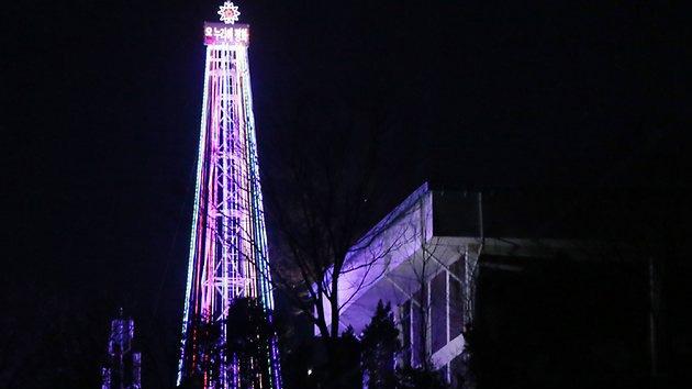 Seúl responde al cohete de Corea del Norte plantando en la frontera... un árbol navideño