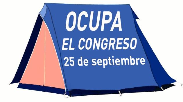 El movimiento 'Ocupa el Congreso' exige la dimisión del Gobierno español