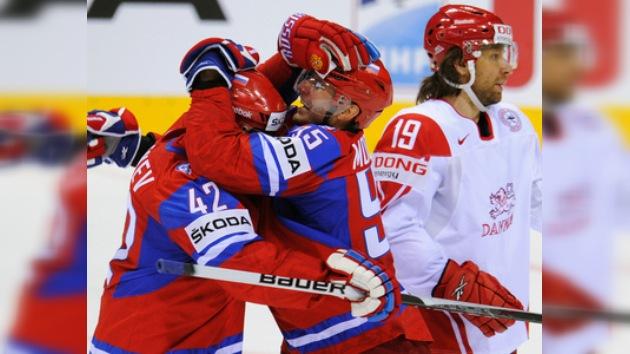 Rusia derrota a Dinamarca en el arranque de la segunda etapa del Mundial de Hockey