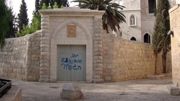 Judíos extremistas profanan un monasterio cristiano en Jerusalén
