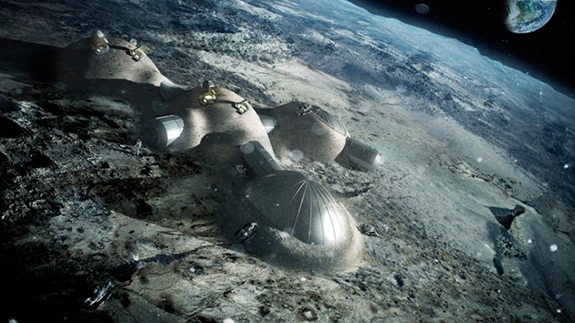 Video: Una espectacular base lunar será construida por robots con impresoras 3D