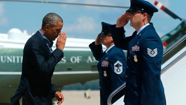 Obama parte hacia Europa sin pronunciarse sobre la decapitación de Sotloff