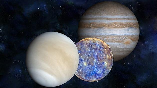 La 'danza planetaria' ilumina el cielo: Júpiter, Venus y Mercurio se marcan un 'baile pegado'