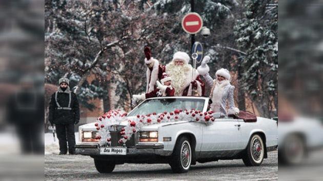 La capital rusa recibe al Abuelo del Frío