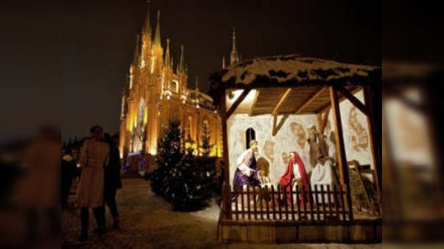 Los católicos rusos celebran la Navidad