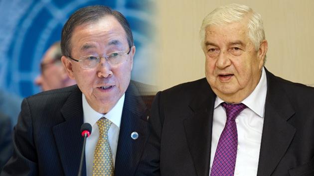 """Canciller sirio a Ban Ki-moon: """"Yo vivo en Siria, usted no; déjeme contar nuestra versión de los hechos"""""""