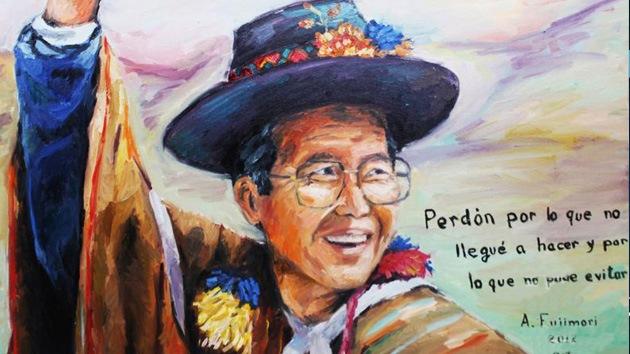Fujimori se disculpa ante los peruanos con un autorretrato