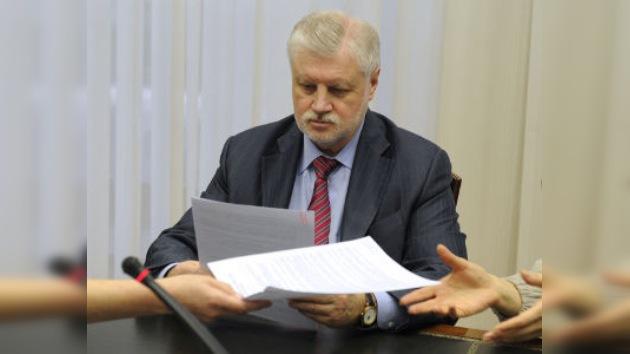 Serguéi Mirónov se postula como el primer rival de Putin en las presidenciales