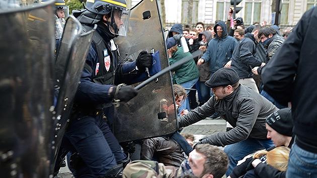 Fotos: Las protestas contra el matrimonio gay en Francia terminan en enfrentamientos