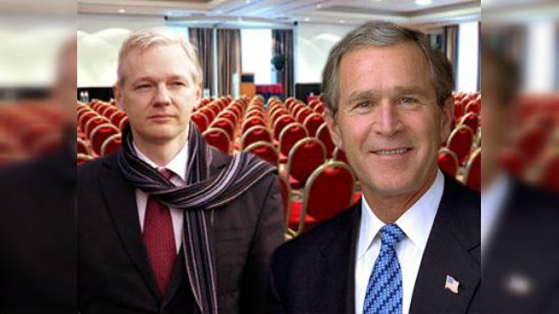 Bush cancela su participación en evento al que también fue invitado Assange