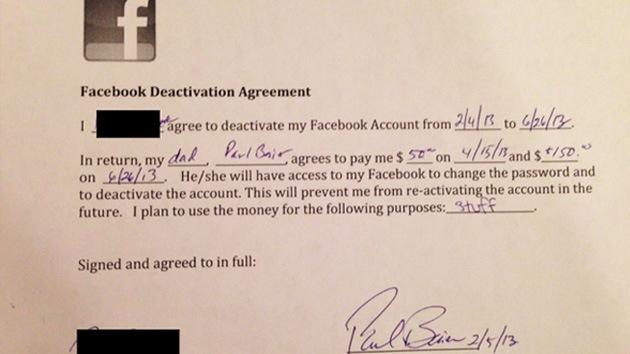 EE.UU.: Padre dispuesto a pagar 200 dólares a su hija para que deje de usar Facebook