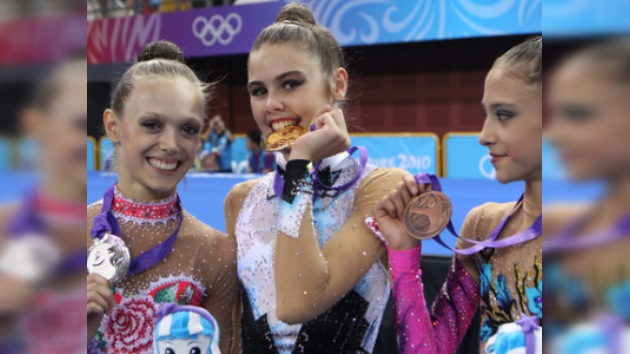 Alexandra Merkúlova, campeona de gimnasia rítmica  en los JJ. OO. Juveniles