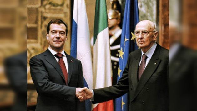 Dmitri Medvédev llega a Roma para inaugurar el año dual de Rusia e Italia