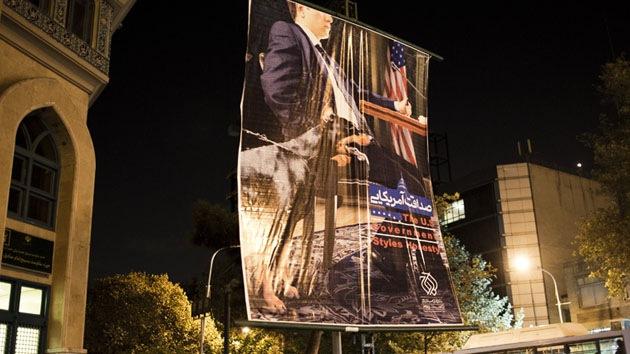 Teherán se deshace de los carteles que cuestionan la honestidad de EE.UU.