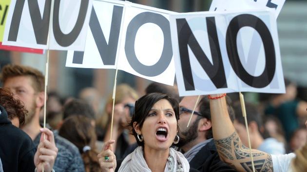 En Vivo: protestas en Madrid en torno al Congreso de los Diputados