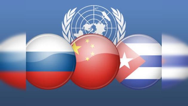 """Rusia, China y Cuba, unidos por el """"no"""" a la resolución sobre Siria"""